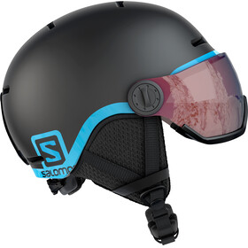 Salomon Grom Visor Helmet Juniors Black